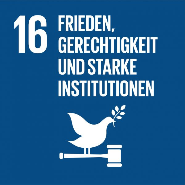 Ziele nachhaltige Entwicklung - Frieden, Gerechtigkeit und starke Institutionen